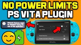 PS Vita NoPowerLimits Plugin! Fixes 77% Brightness & WLAN!