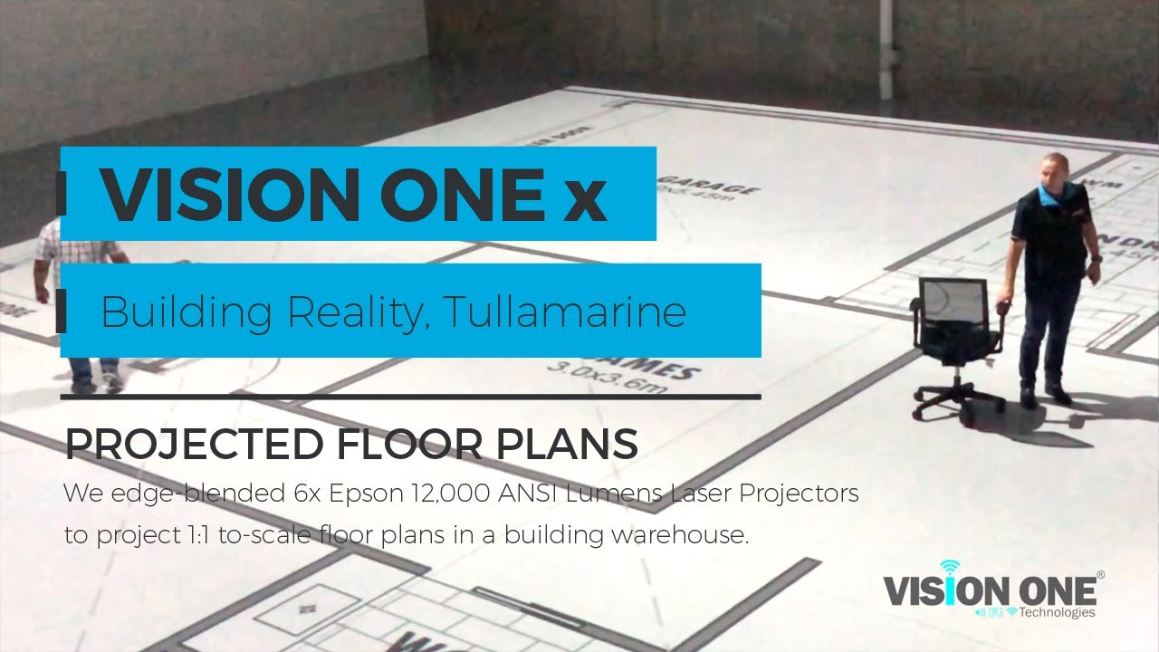 Building Reality Life Size Projection Floor Plans By Vision One Youtube