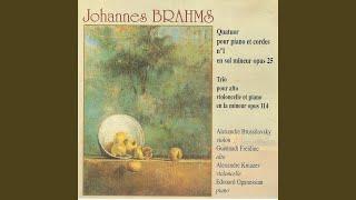 Quator pour piano et cordes No. 1 en sol mineur, Op. 25: II. Intermezzo (Allegro ma non troppo)