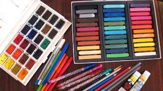 Урок №2/ Обзор материалов, или чем можно раскрашивать раскраски антистересс