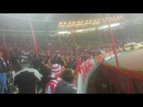Liverpool fans in Belgrade