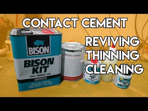 Contact Cement - Reviving, Thinning and Cleaning - TUTORIAL