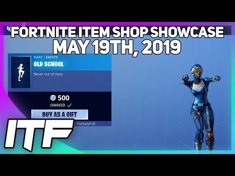 Fortnite Item Shop *NEW* OLD SCHOOL EMOTE! [May 19th, 2019] (Fortnite Battle Royale)
