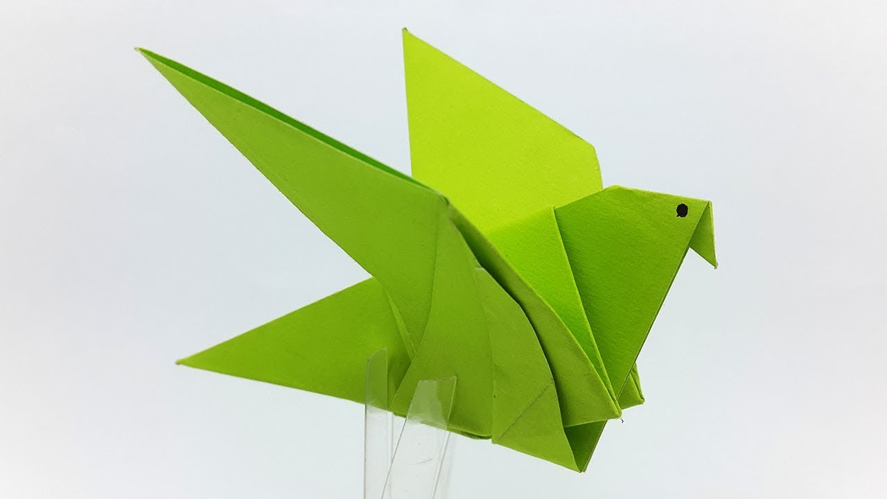 How to make an Origami Flapping Bird Video - YouTube | 720x1280