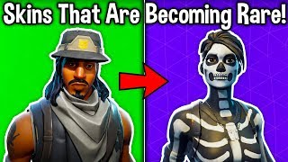 5 SKINS BECOMING RARE in Fortnite Battle Royale! (New Rarest Skins)