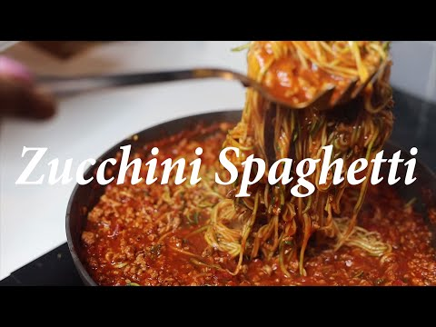 Poultry Bolognese With Zucchini Noodles