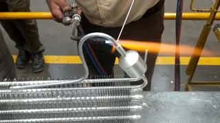 Aluminium condenser brazing with Mathure's Alusil 12 rod