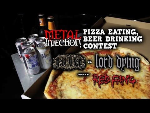 Pizza Eating Contest w/ RED FANG, HOWL, LORD DYING, and MORTALS on Metal Injection