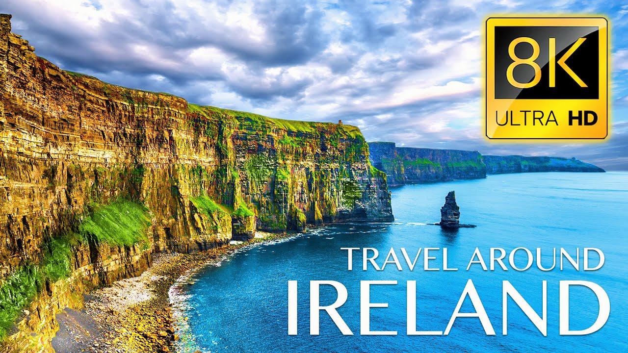 IRELAND 8K • Beautiful Scenery, Relaxing Music & Nature Drone Video in 8K ULTRA HD