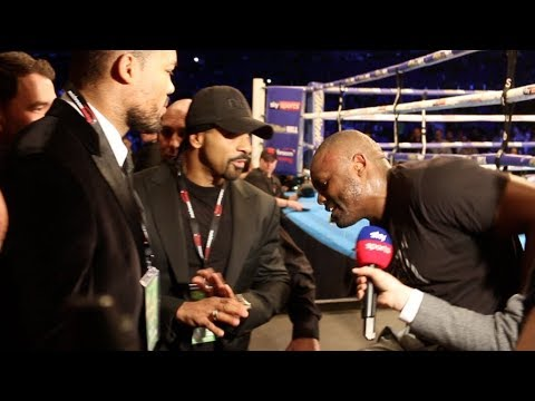 HEAVYWEIGHT BEEF! - DAVID HAYE & JOE JOYCE CONFRONT DERECK CHISORA & GO AT IT HARD DURING INTERVIEW