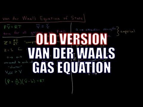 Chemical Thermodynamics - van der Waals Gas Equation (Old Version)