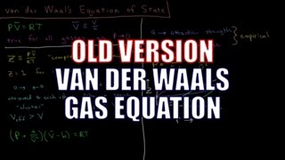 Chemical Thermodynamics - van der Waals Gas Equation