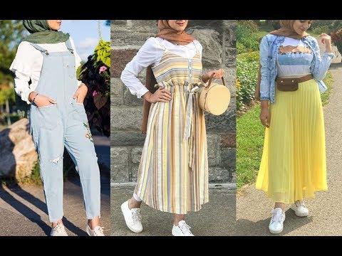 723820491 تنسيق ملابس محجبات للربيع 2019 Early Spring Hijab Lookbook - YouTube