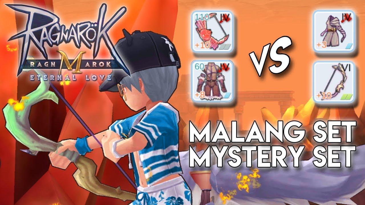 damage test tier vi mystery bow set vs malang bow set