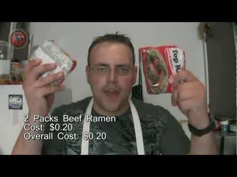 Poor Man's Meals: Cheesy Ramen Meat Pie