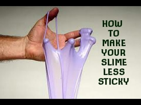How to make your slime less sticky youtube how to make your slime less sticky ccuart Gallery
