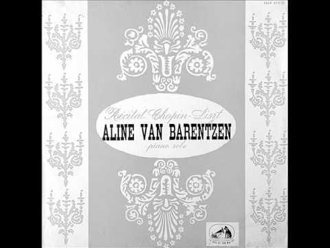 ALINE VAN BARENTZEN plays LISZT Un Sospiro (1957)