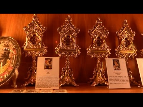 Over 4,000 holy relics displayed in Tabor Hill chapel