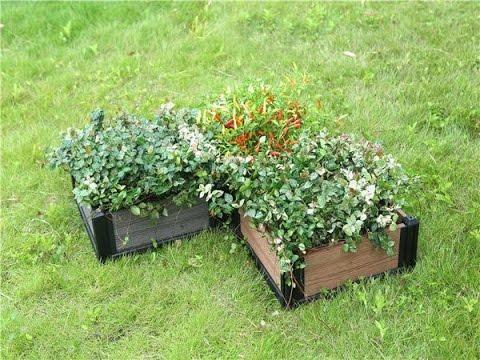 plastic wood composite boxes, outside park decorate flower box