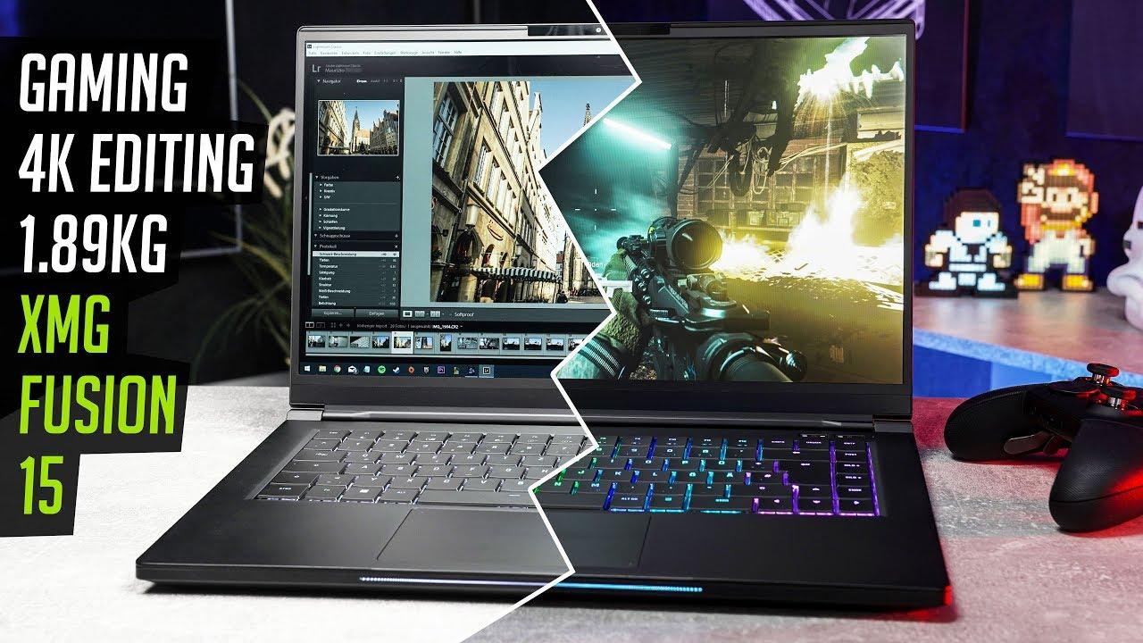 Xmg Fusion 15 Gaming Laptop 4k Editing Rgb 1 89kg Youtube