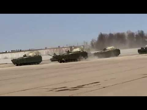 Kurganets-25  new Russian AIFV armoured infantry fighting vehicle Russia army rehearsal Victory Day