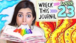 WRECK THIS JOURNAL 23 : DRAWING WITH MY MOUTH // SoCraftastic Video