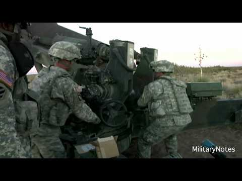 M198 155mm Howitzer Live Fire