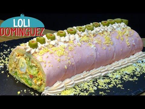 Tronco salado de pollo ESPECIAL PARA NAVIDAD. Recetas paso a paso, tutorial. Loli Domínguez