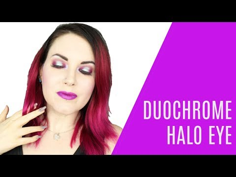Purple Duochrome Halo Eye Makeup Tutorial for Hooded Eyes