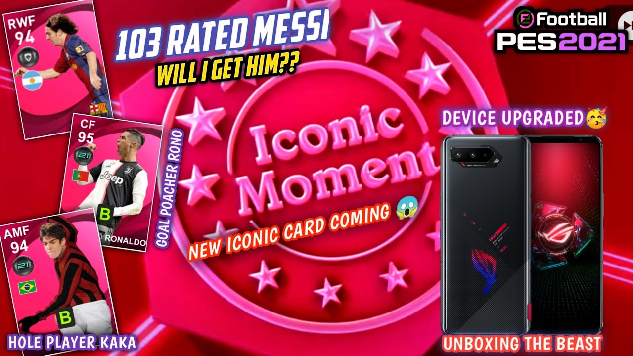 NEW DEVICE UNBOXING + 103 RATED MESSI ICONIC PACK OPENING 💥 NEW ICONIC CARD COMING IN PES 2021