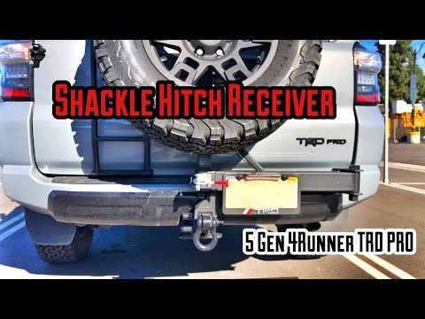 【46】Shackle Hitch Receiver & Tow Strap - RHINO | Install & Review | 5th Gen 4Runner [4K]