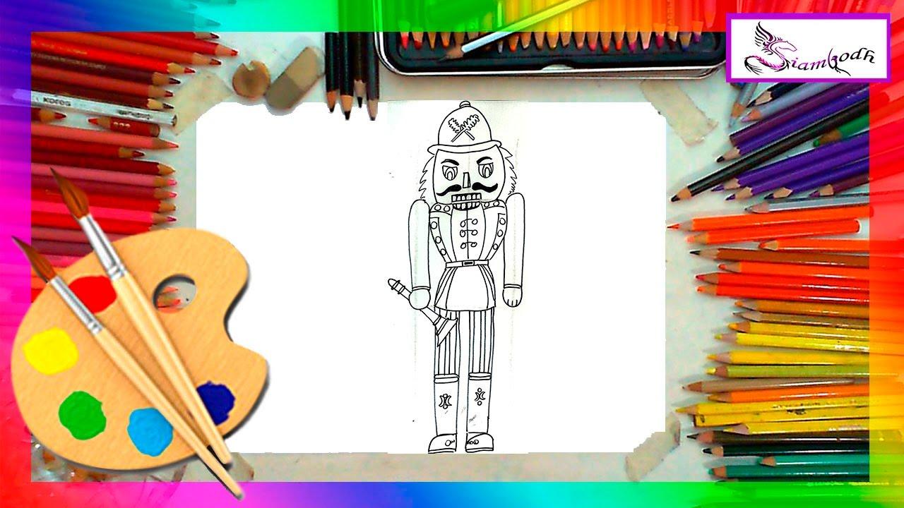 Como Dibujar un Cascanueces Dibujo Facil Para Niños - YouTube