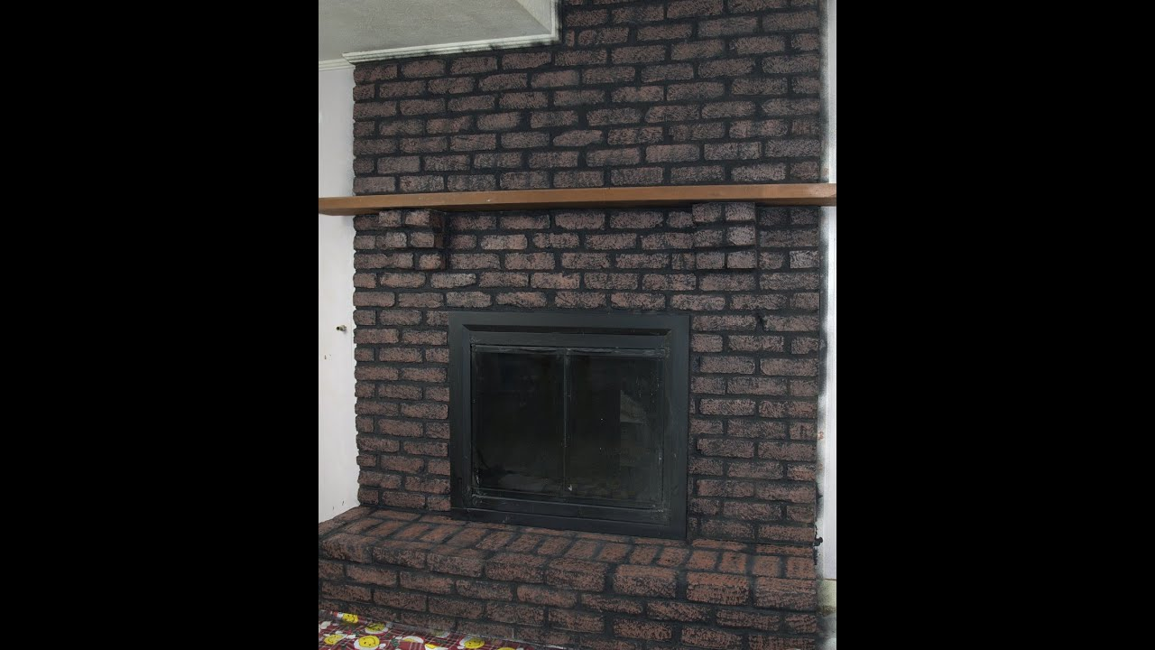 brick fireplace makeover youtube