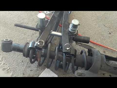 SAAB 9-5 rear-end sag repair