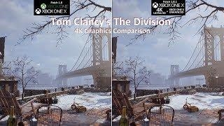 XONE S vs. XONE X | Tom Clancy's The Division | Graphics Comparison | 4K 60fps