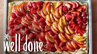 How to Make Puff Pastry Summer Fruit Slab Pie | Recipe | Well Done