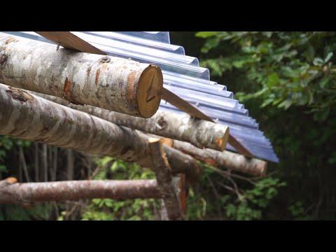 Greenwood Primitive Timber Framed Shed Build
