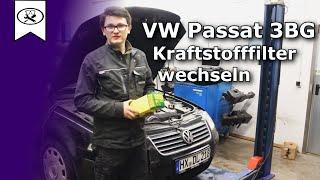 VW Passat 3BG Kraftstofffilter Wechseln  |   Change fuel filter  | VitjaWolf  | HD