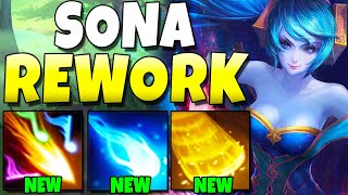 SONA MINI-REWORK GAMEPLAY!! She's NUTTY Now - League of Legends