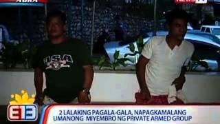 NTL: 2 lalaking pagala-gala sa Abra, napagkamalang miyembro ng private armed group