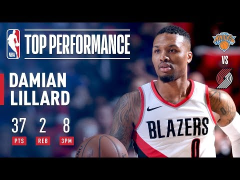 Dame Continues His LIGHTS OUT Shooting Dropping  37 pts vs The Knicks