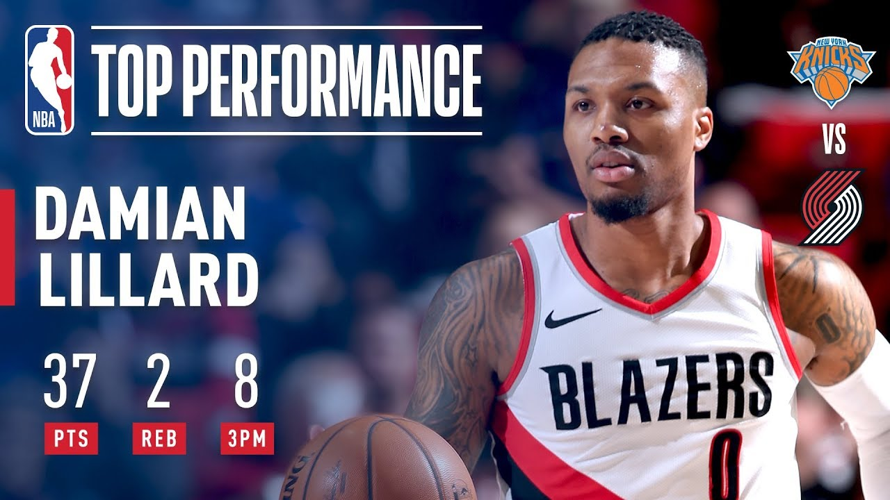 Damian Lillard hits 8 threes as Portland Trail Blazers drill New York ...