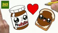 Dibujando Nutella Y Pan Kawaii Abril Castro
