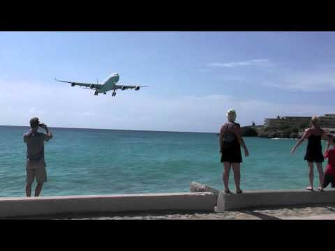 Beautiful Air France A340 Landing @ Princess Juliana (TNCM) [HD]