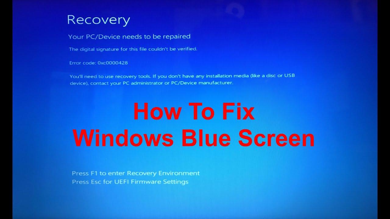 How To Fix Windows Blue Screen