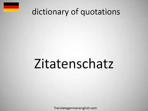 How to say dictionary of quotations in German? (Zitatenschatz)