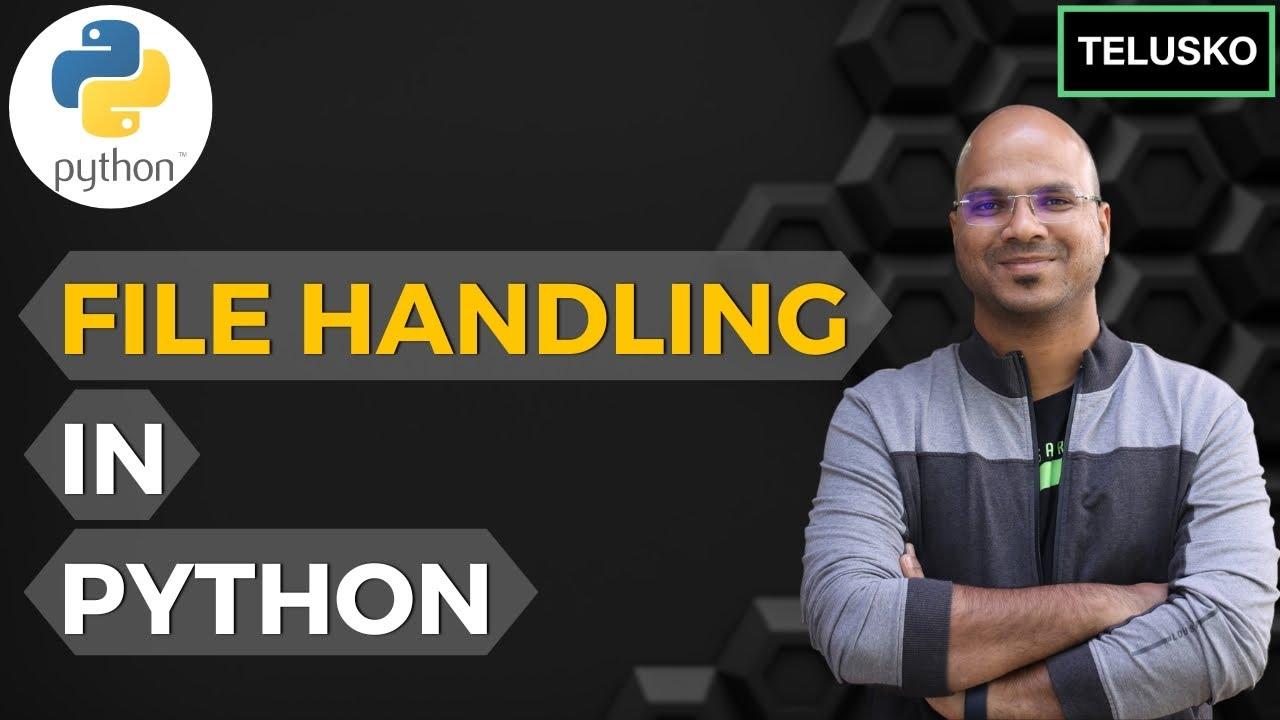 #65 Python Tutorial for Beginners | File handling