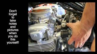 honda cb550f carb removal for nervous beginners