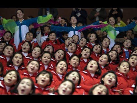 North Korea's cheerleaders make impression at 2018 Olympics