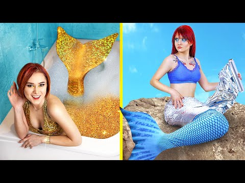 Rich vs Broke Mermaid / 19 Funny Situations